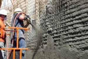 Торкретирование поверхности бетоном