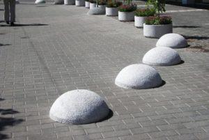 Полусферы из бетона и их назначение