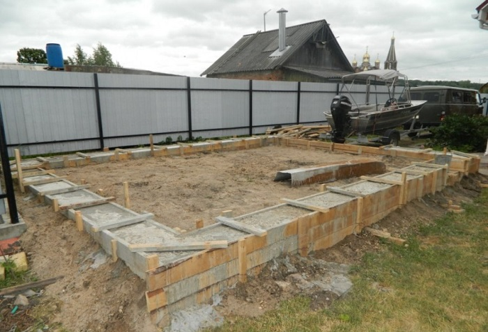 Фундамент под гараж фото